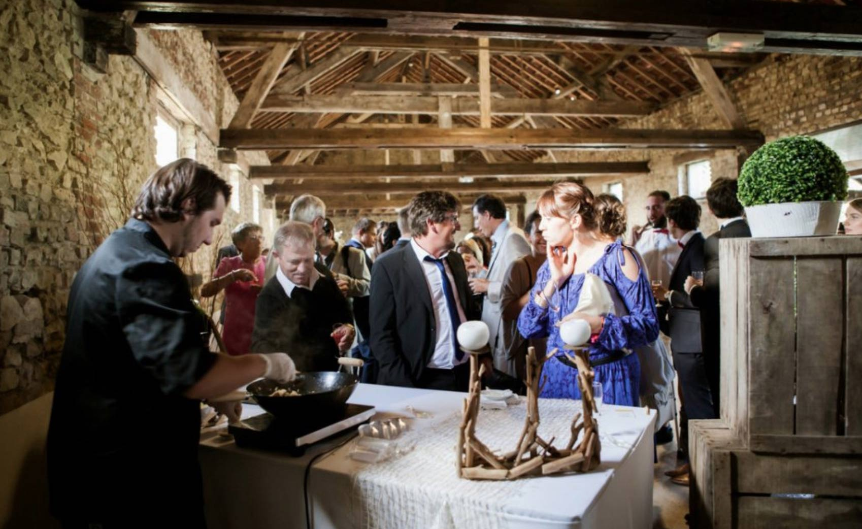 mariage à la grange de fontenay